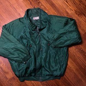 Vintage Rare Green Gucci Silk Bomber Jacket